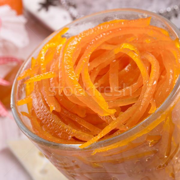 Oranje mes voedsel hout vintage koken Stockfoto © Dar1930