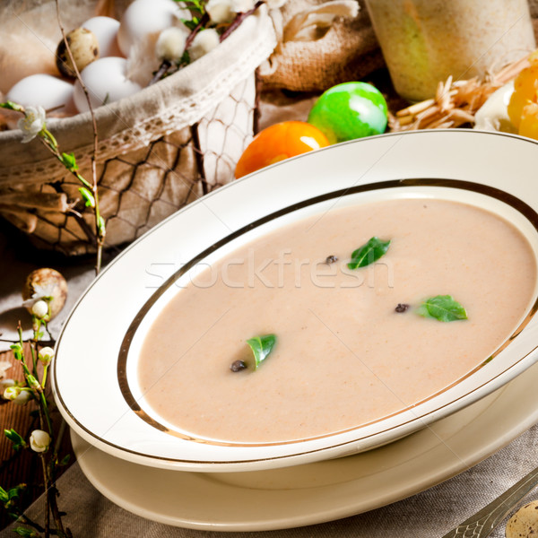 Sour rye soup Stock photo © Dar1930