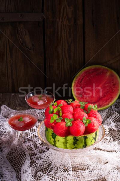 cooled watermelon pie Stock photo © Dar1930