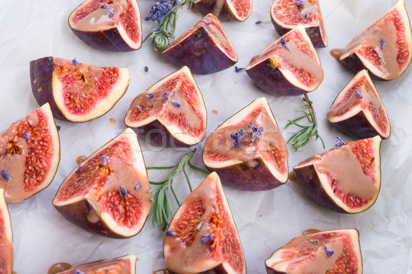 baked figs with caramel Stock photo © Dar1930