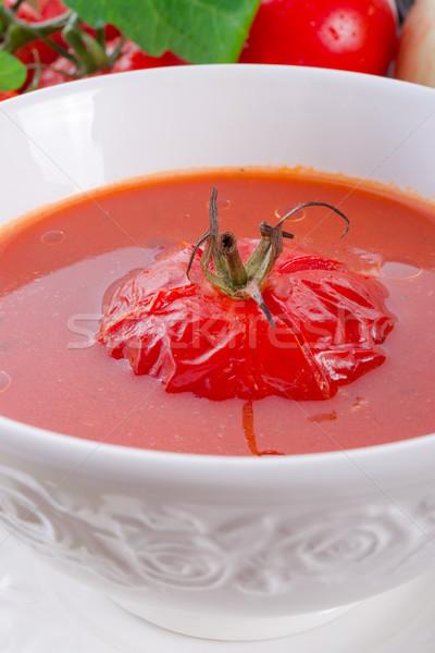Zupa pomidorowa żywności zdrowia obiedzie czerwony obiad Zdjęcia stock © Dar1930
