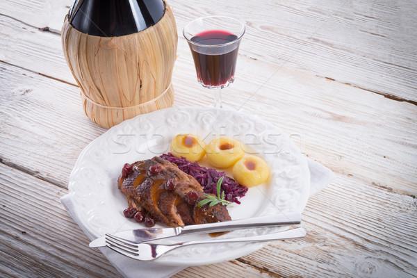 Kacsa filé étel étterem madár olaj Stock fotó © Dar1930