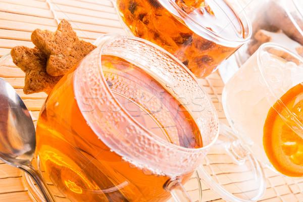 Té rock dulces casa vidrio salud Foto stock © Dar1930