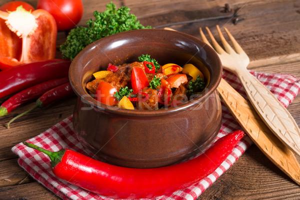 Hungarian goulash Stock photo © Dar1930