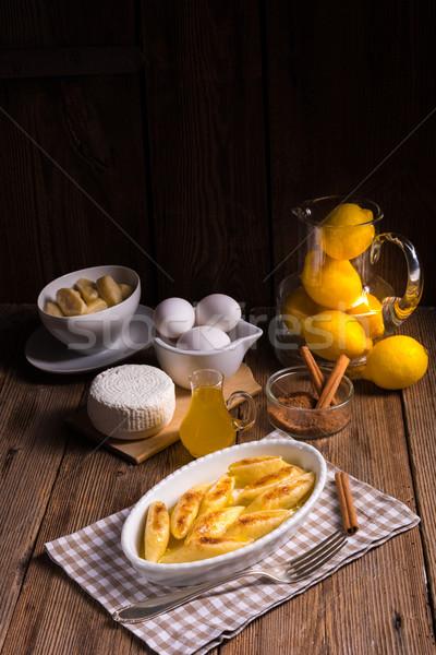 Stok fotoğraf: Patates · gıda · makarna · beyaz · öğle · yemeği