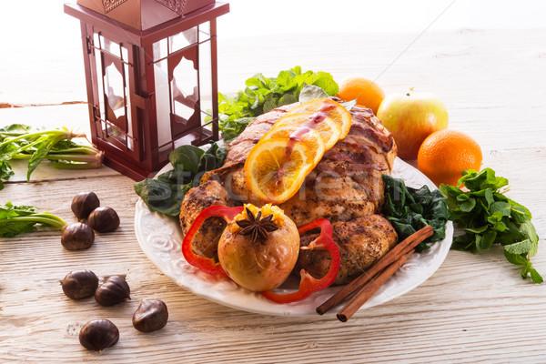トルコ 栗 充填 オレンジ 食品 ストックフォト © Dar1930