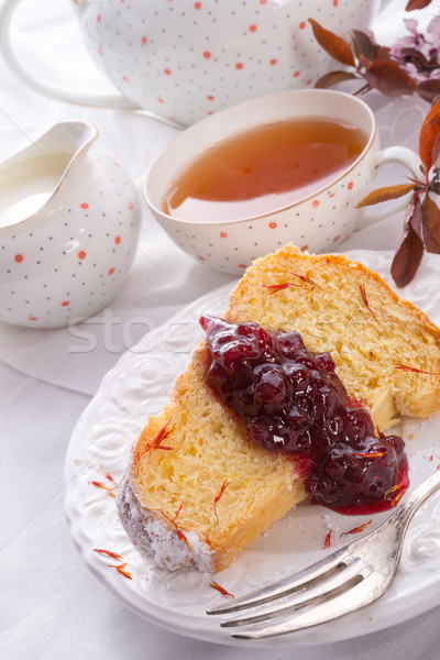 Saffron Easter Babka Stock photo © Dar1930