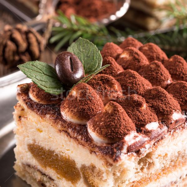 クリスマス ティラミス 食品 パーティ チョコレート 背景 ストックフォト © Dar1930
