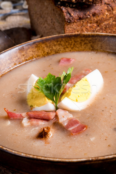 polish Sour rye soup Stock photo © Dar1930