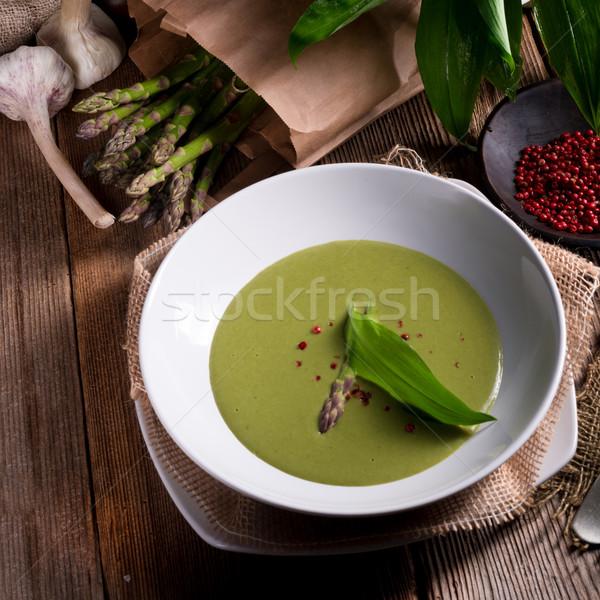 Zdjęcia stock: Szparagów · zupa · wiosną · lasu · tle · roślin