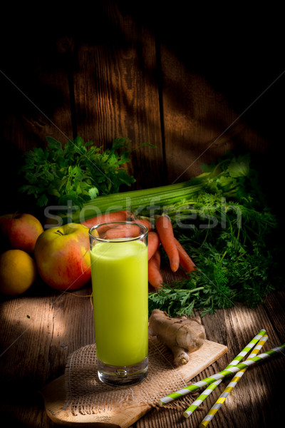 Freshly squeezed celery juice Stock photo © Dar1930