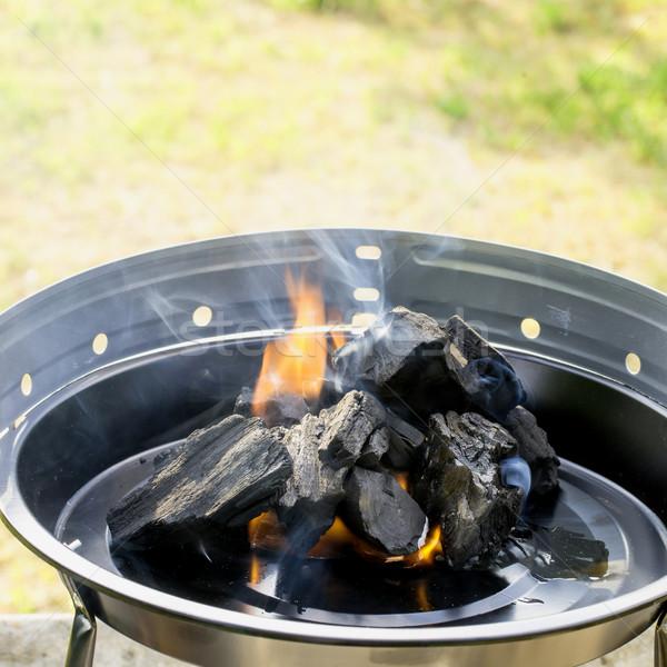 Burning Charcoal Stock photo © Dar1930