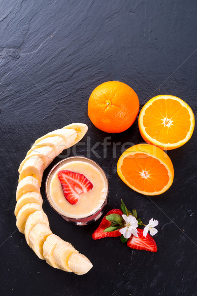 Strawberry Banana smoothie Stock photo © Dar1930