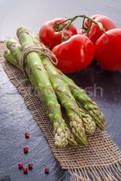 asparagus, tomatoes Stock photo © Dar1930
