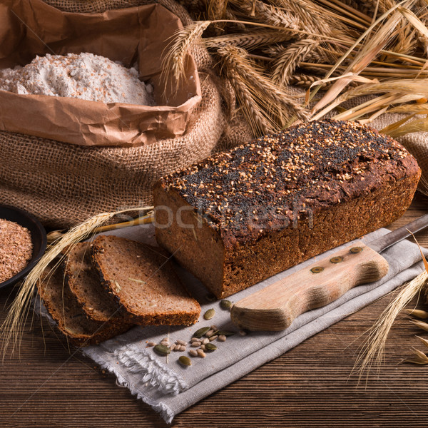 homemade whole wheat bread Stock photo © Dar1930