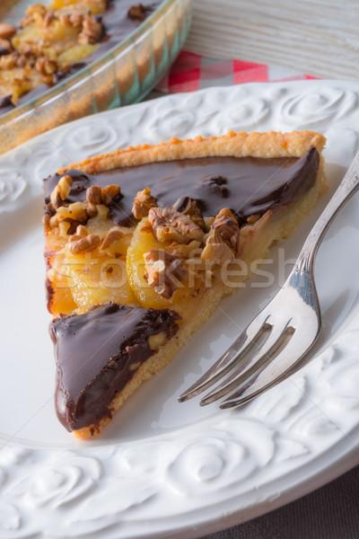pears chocolate tart Stock photo © Dar1930