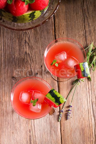 арбуза сока льда воды продовольствие лист Сток-фото © Dar1930
