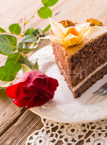 cake with roses Stock photo © Dar1930