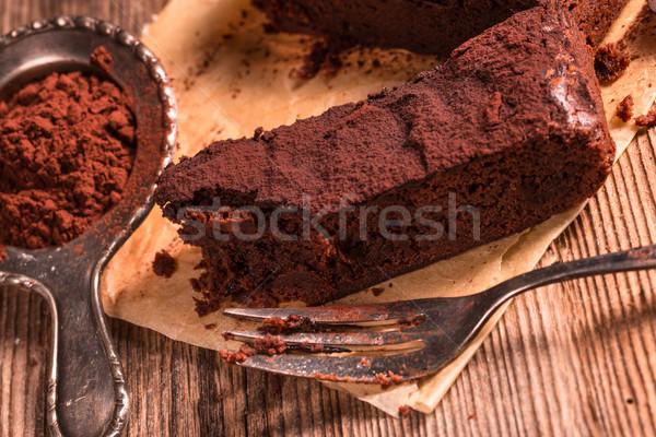 Stock photo: Chocolate brownie