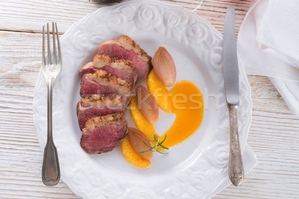 goose's fillet with orange sherry sauce Stock photo © Dar1930