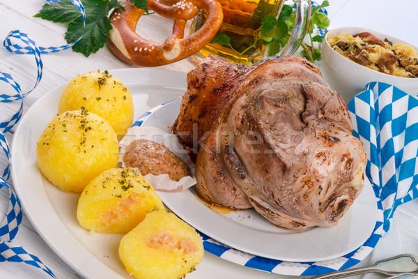 Stok fotoğraf: Domuz · eti · gıda · restoran · kırmızı · et · birahane