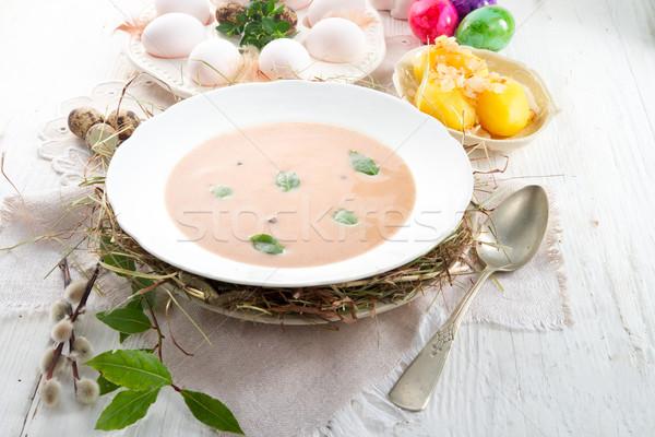çavdar çorba Paskalya gıda akşam yemeği Stok fotoğraf © Dar1930