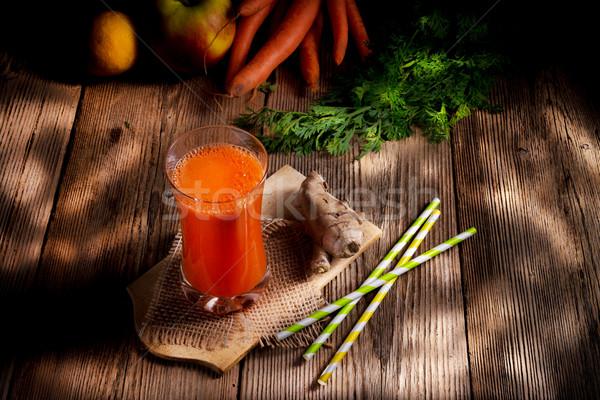 freshly squeezed carrot juice Stock photo © Dar1930