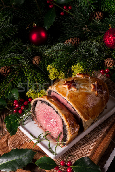 Beef Wellington as Advent creation Stock photo © Dar1930