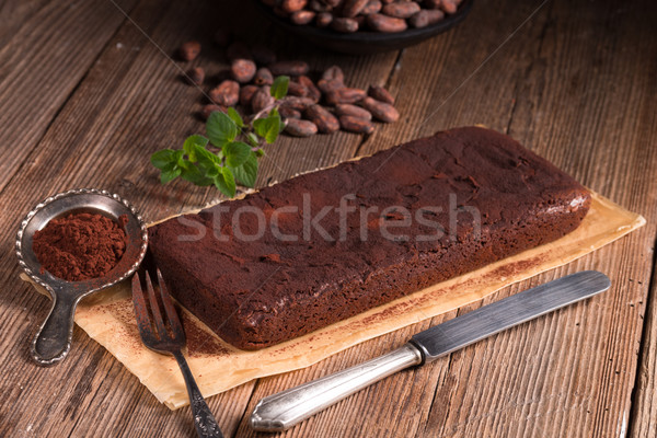 Chocolate brownie Stock photo © Dar1930