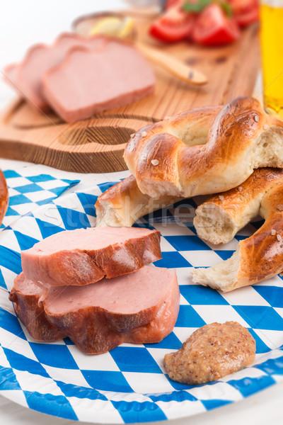 german liver cheese Stock photo © Dar1930
