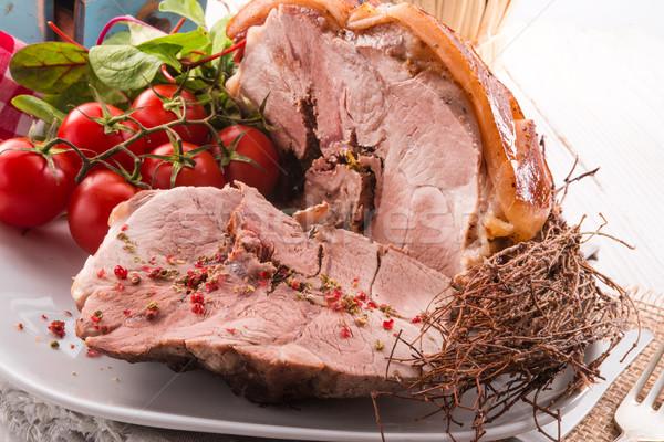 crust Roast with salad Stock photo © Dar1930