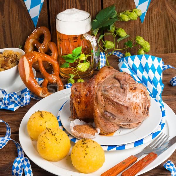 Schweinshaxe - pork knuckle on Bavarian  Stock photo © Dar1930