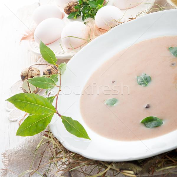 Foto stock: Centeio · sopa · páscoa · comida · jantar