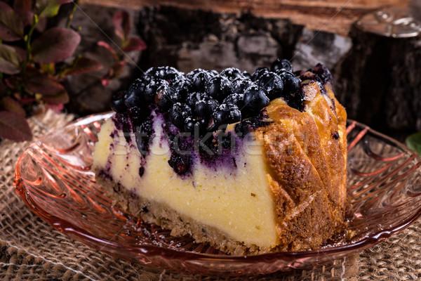 чизкейк черника сыра обеда красный еды Сток-фото © Dar1930