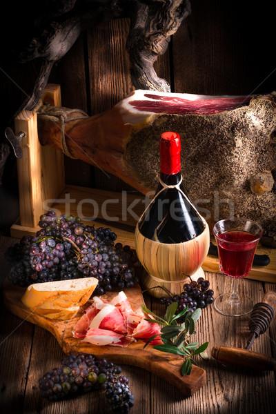Wine and prosciutto Stock photo © Dar1930