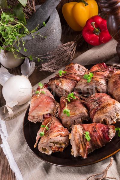 stuffed pork tenderloin Stock photo © Dar1930