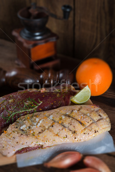 marinated duck breast Stock photo © Dar1930