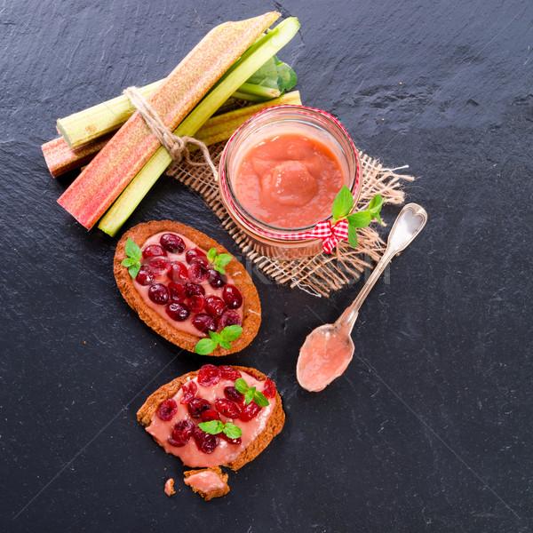 rhubarb tartelette with cranberry Stock photo © Dar1930