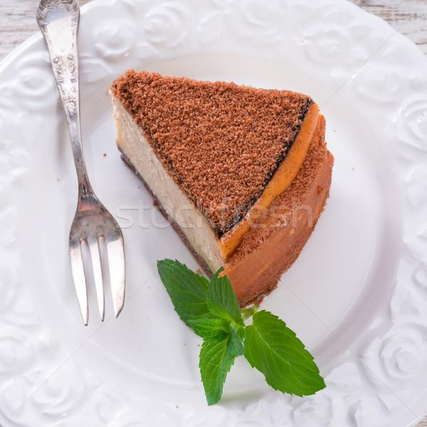 チーズケーキ ケーキ 緑 新鮮な 甘い 食事 ストックフォト © Dar1930