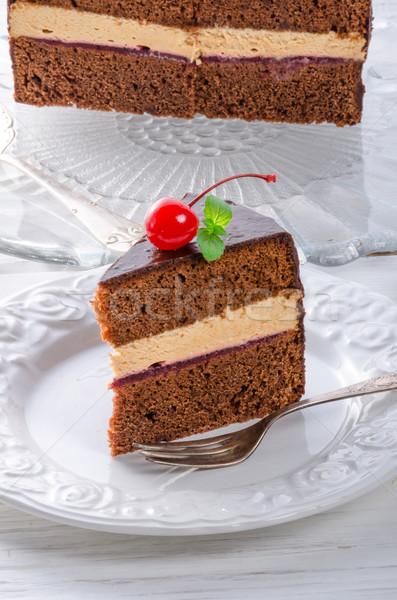 chocolate cake Stock photo © Dar1930