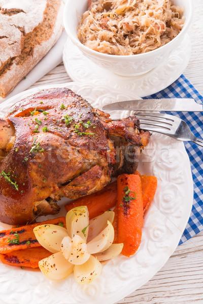Presunto festa tabela beber porco gordura Foto stock © Dar1930