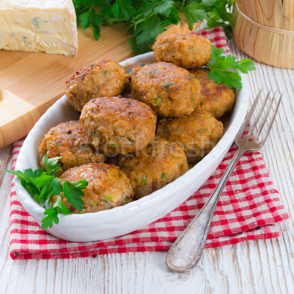 rissole with mould cheese and parsley Stock photo © Dar1930