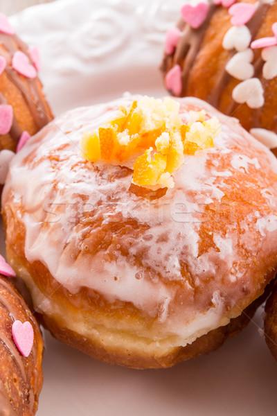 bismarck doughnuts on a plate Stock photo © Dar1930