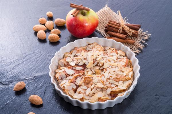 Manzana tarta casa torta cocina cocinar Foto stock © Dar1930