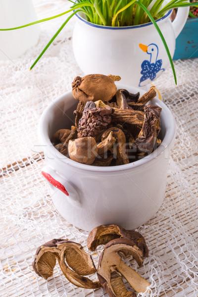 dried mushrooms Stock photo © Dar1930
