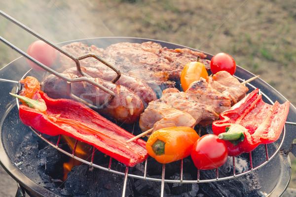 grilled sausage Stock photo © Dar1930