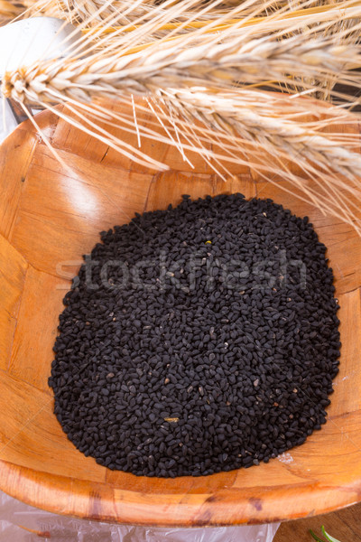 Zwarte komijn achtergrond asian koken macro Stockfoto © Dar1930