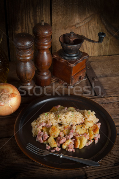 sauerkraut dumplings Stock photo © Dar1930
