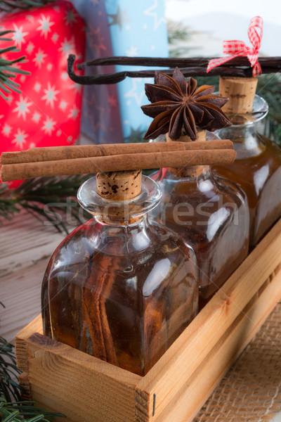 Stockfoto: Christmas · heerlijk · voedsel · partij · gezondheid