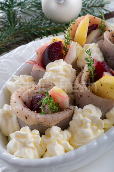 herring with beets Stock photo © Dar1930